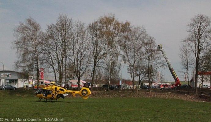 Unfall Ichenhausen Pkw erfasst Kind auf Roller 03042019 5