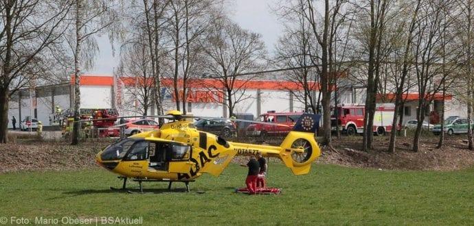 Unfall Ichenhausen Pkw erfasst Kind auf Roller 03042019 6