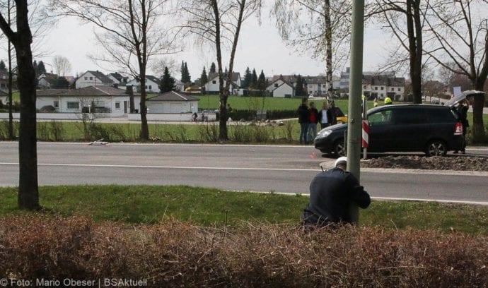 Unfall Ichenhausen Pkw erfasst Kind auf Roller 03042019 8