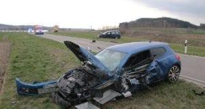 Unfall Krumbach Mindelheimer Strasse Niederraunau 03042019 12