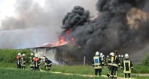 Wertingen Hohenreichen Brand Maschinenhalle am 20.05.2019
