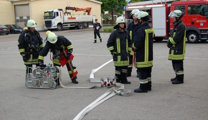 Feuerwehr Thannhausen Inspektion 2019 Schulaufbau