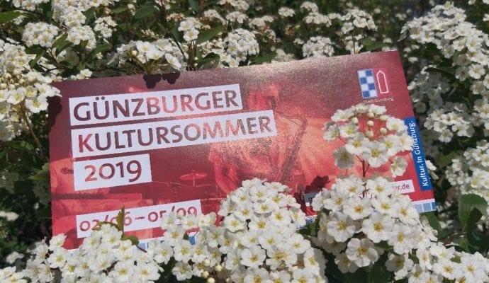 Kultursommer Günzburg Programm Flyer