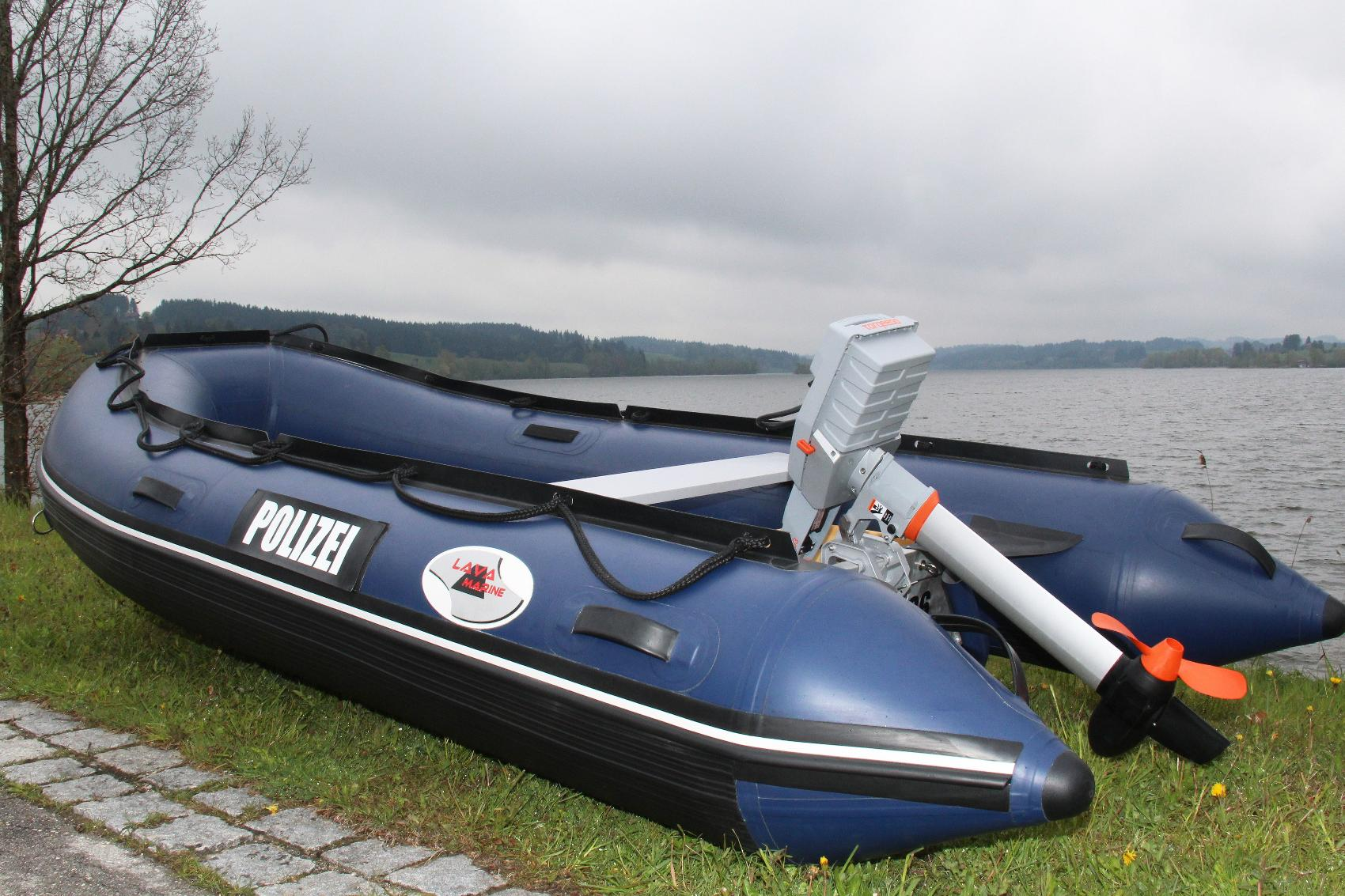 Polizeipräsidium Schwaben Süd West Schnelleinsatzboot Elektro