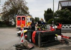 Rettenbach Arbeitsunfall Minibagger umgekippt 16052019 2