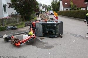 Rettenbach Arbeitsunfall Minibagger umgekippt 16052019 4