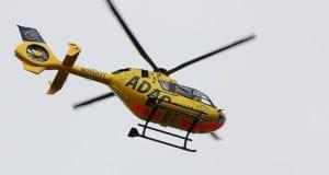 Rettungshubschrauber in der Luft