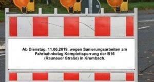 Sperrung Krumbach Raunerauer Strasse