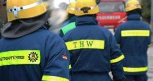THW-und-Feuerwehr Einsatz