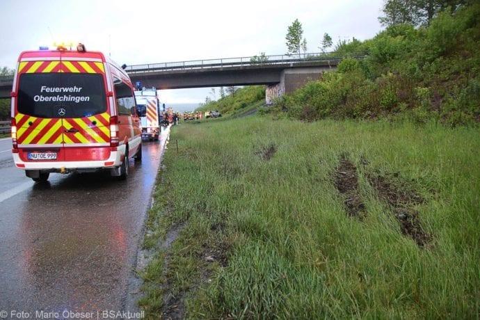 Unfall A8 AS Oberelchingen – Kreuz Ulm Elchingen 21052019 1