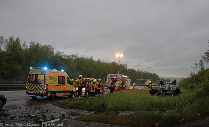 Unfall A8 AS Oberelchingen – Kreuz Ulm Elchingen 21052019 13