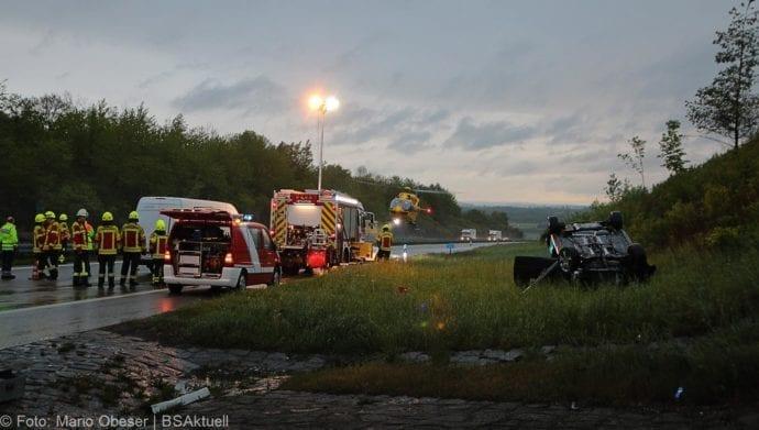 Unfall A8 AS Oberelchingen – Kreuz Ulm Elchingen 21052019 17