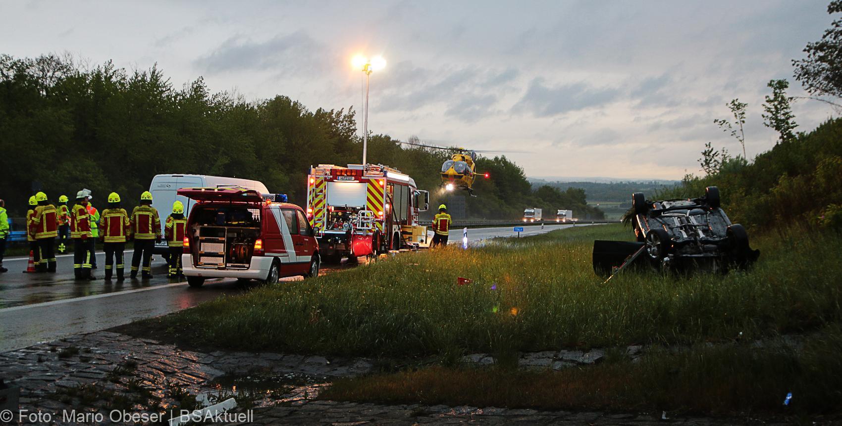Unfall A8 AS Oberelchingen – Kreuz Ulm Elchingen 21052019 18