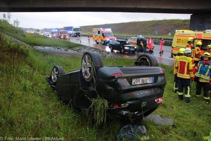 Unfall A8 AS Oberelchingen – Kreuz Ulm Elchingen 21052019 4