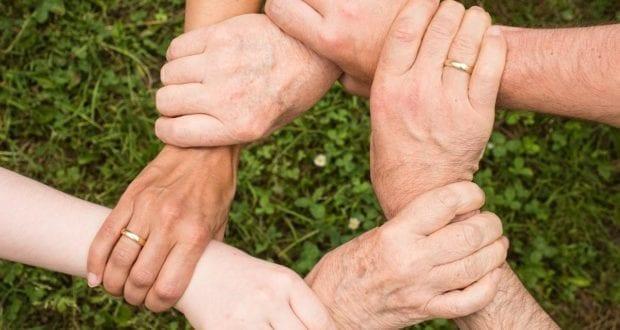 Hände Helfer Hand