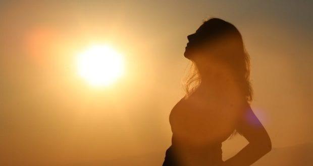 Sonne Frau Sonnenanbeterin