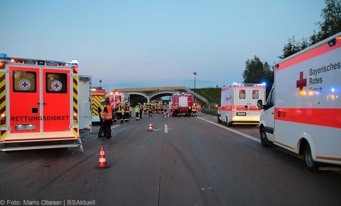 Unfall A8 Burgau-Zusmarshausen 31082019 1
