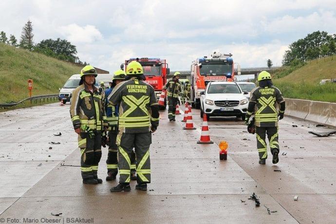 Unfall A8 Günzburg-Burgau 16062019 11