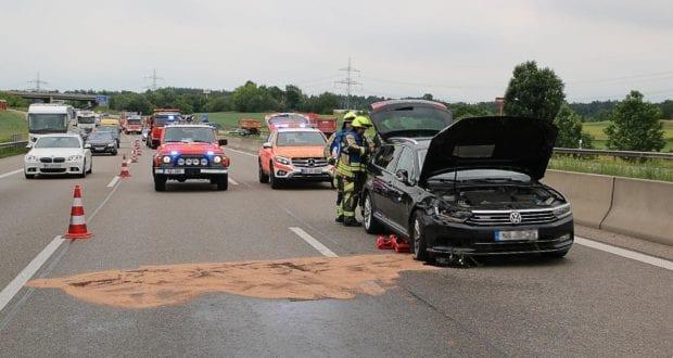 Unfall A8 Günzburg-Leipheim 11062019 11