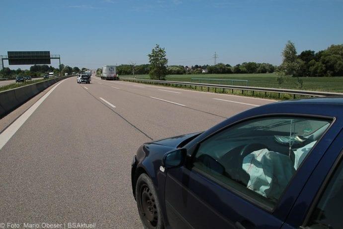 Unfall A8 Günzburg Lkw Unfallflucht 07062019 5