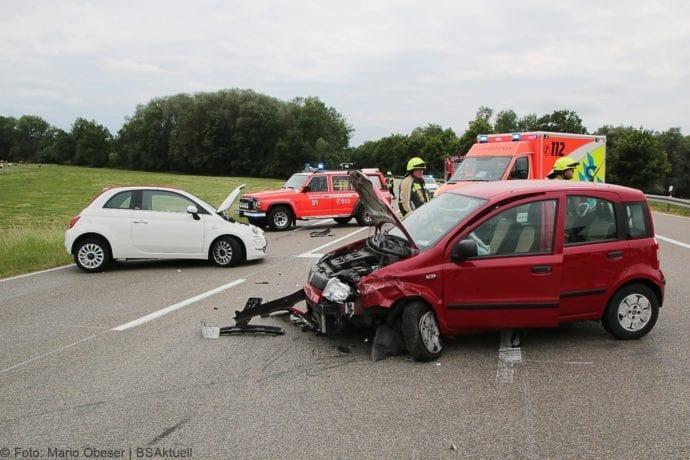 Unfall B16 – Riedstraße bei Günzburg