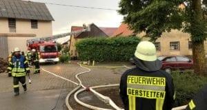 Dachstuhlbrand Blitzschlag Heldenfingen 26072019