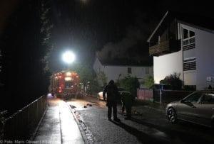 Günzburg Dachstuhlbrand nach Blizschlag Mozartring 07072019 1