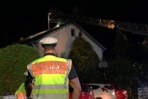 Günzburg Dachstuhlbrand nach Blizschlag Mozartring 07072019 13