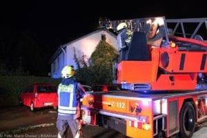 Günzburg Dachstuhlbrand nach Blizschlag Mozartring 07072019 14