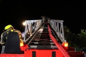 Günzburg Dachstuhlbrand nach Blizschlag Mozartring 07072019 15