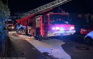 Günzburg Dachstuhlbrand nach Blizschlag Mozartring 07072019 19