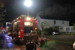 Günzburg Dachstuhlbrand nach Blizschlag Mozartring 07072019 20