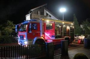 Günzburg Dachstuhlbrand nach Blizschlag Mozartring 07072019 22