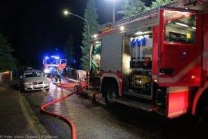 Günzburg Dachstuhlbrand nach Blizschlag Mozartring 07072019 25
