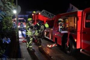 Günzburg Dachstuhlbrand nach Blizschlag Mozartring 07072019 26
