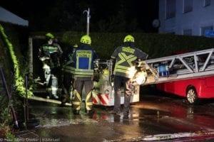 Günzburg Dachstuhlbrand nach Blizschlag Mozartring 07072019 3
