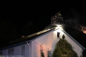 Günzburg Dachstuhlbrand nach Blizschlag Mozartring 07072019 5