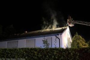 Günzburg Dachstuhlbrand nach Blizschlag Mozartring 07072019 6