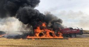 Brand Heuballenpresse Oberottmarshausen am 19.07.2019.