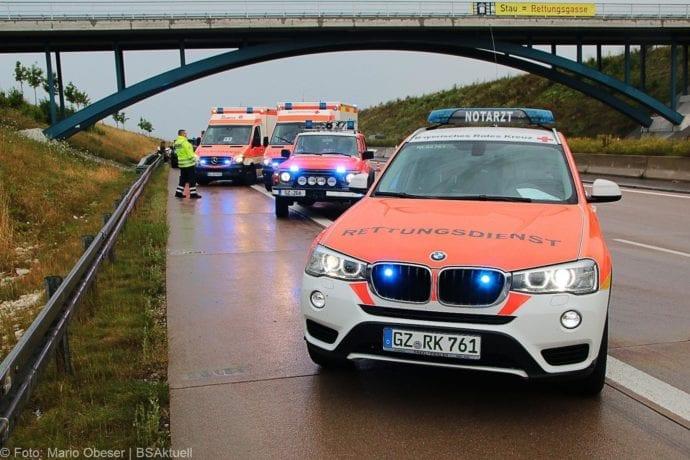 Unfall A8 Günzburg-Burgau 27072019 14