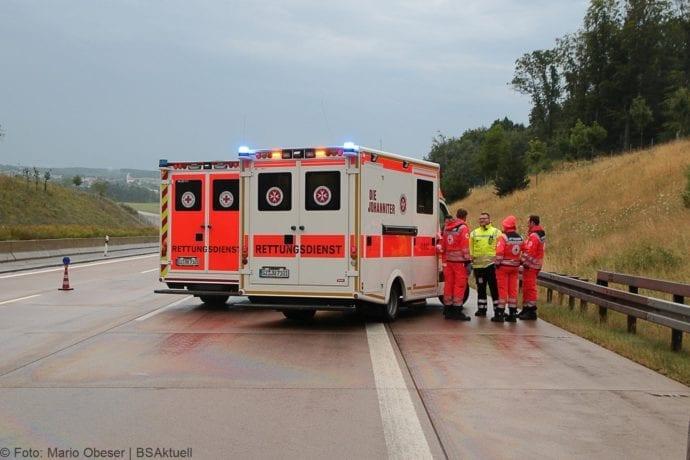 Unfall A8 Günzburg-Burgau 27072019 6