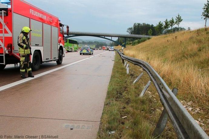 Unfall A8 Günzburg-Burgau 27072019 9