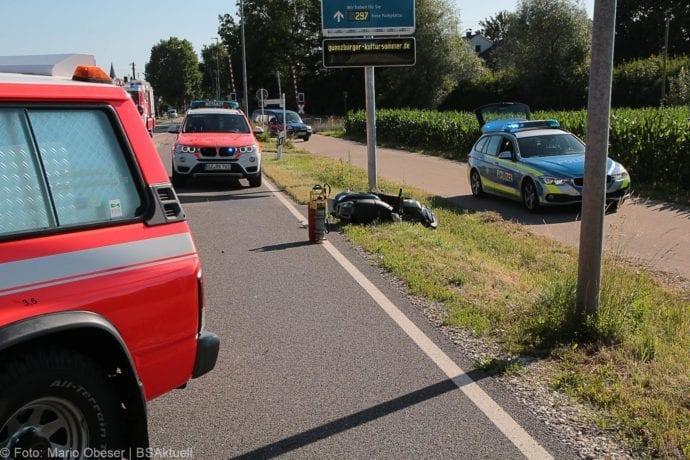 Unfall Günzburg Weißenhorner Straße Roller 04072019 3