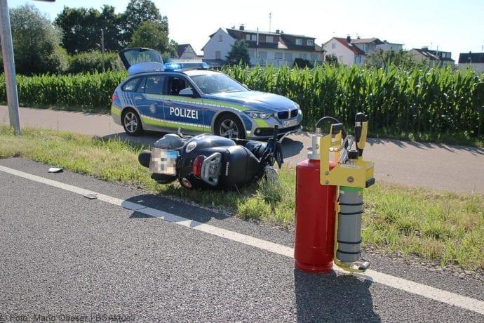 Unfall Günzburg Weißenhorner Straße Roller 04072019 5