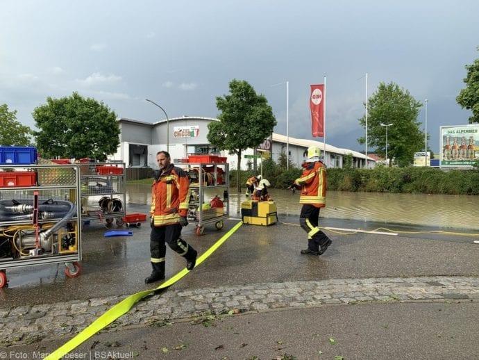 Unwetter B16 Ichenhausen überschwemmt 01072019 10