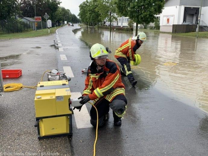 Unwetter B16 Ichenhausen überschwemmt 01072019 9