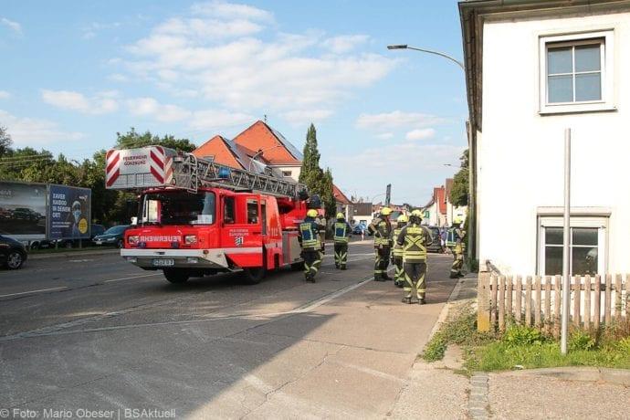 Brand Müll leerstehendes Haus Günzburg 23082019 2