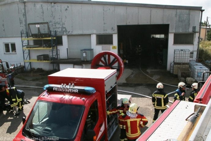 Brand in Halle Jettingen 08082019 2