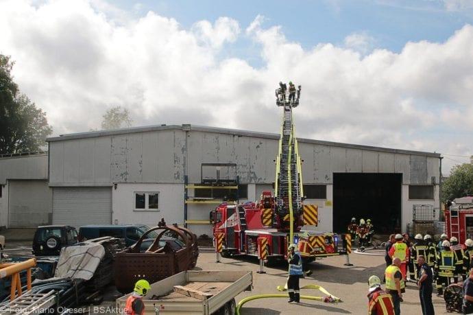 Brand in Halle Jettingen 08082019 4