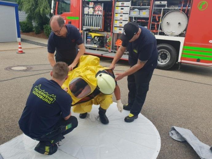 Feuerwehr Günzburg Dillingen Gefahrgut Fortbildung 1